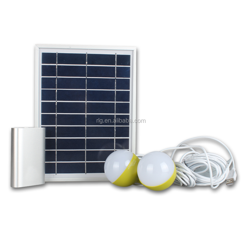 High efficient phone charger with small solar panel Solar Home Energy system