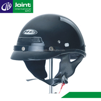 Cheap Scooter Half Helmet Black Shortly Motorcycle Helmet Open Face with Chin Strap