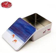 Delicate Food Grade Cookies Square Metal Tin Can
