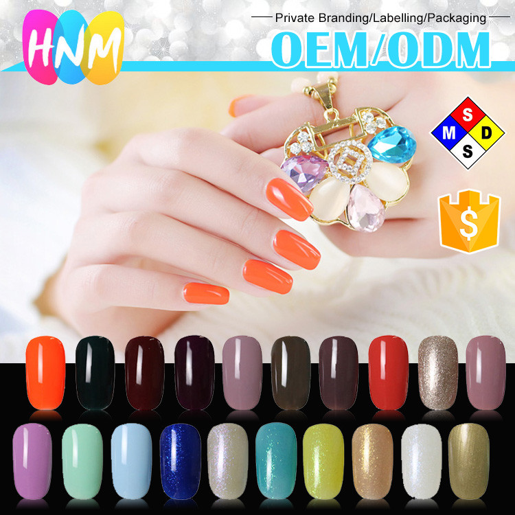HNM nail supplier scented nail polish gel,professional nail care Multi-colorcolor gel polish