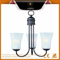2015 hot promotional Rubbed Bronze 3 Light 1 Tier Chandelier Factory supply