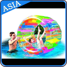 Newest water children playing inflatable roller wheel