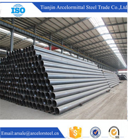 Trade Assurance Q195 SS400 ASTM A53 erw carbon steel pipe for construction material wholesale alibaba