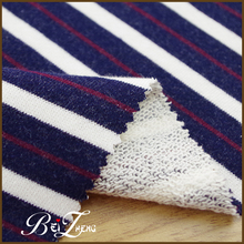 Good Quality Strip Knitting Cotton French Terry Fleece Fabric Yard For Cloth