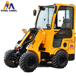 1.2t mini wheel loader available for stump grinder attachment