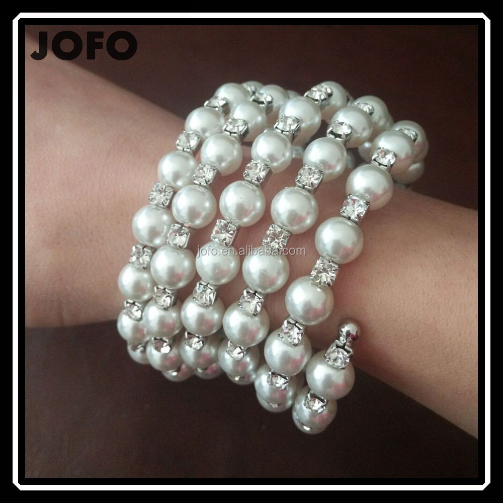 2017 Trending Products Fashion Pearl Multilayer Stretch Bracelet Bulk Buy From China XPJ0381