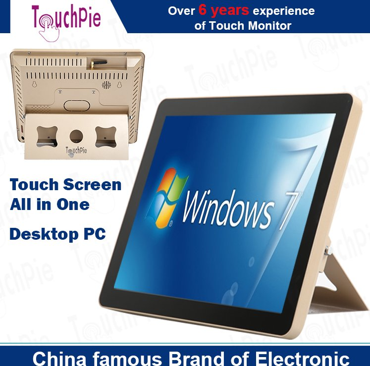 Desktop IR capacitive touch screen monitor all in one tv PC computer, 15''/17''/22''/32''