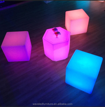 Wholesale RGB colorful Rechargeable remote control cube led chair cube light