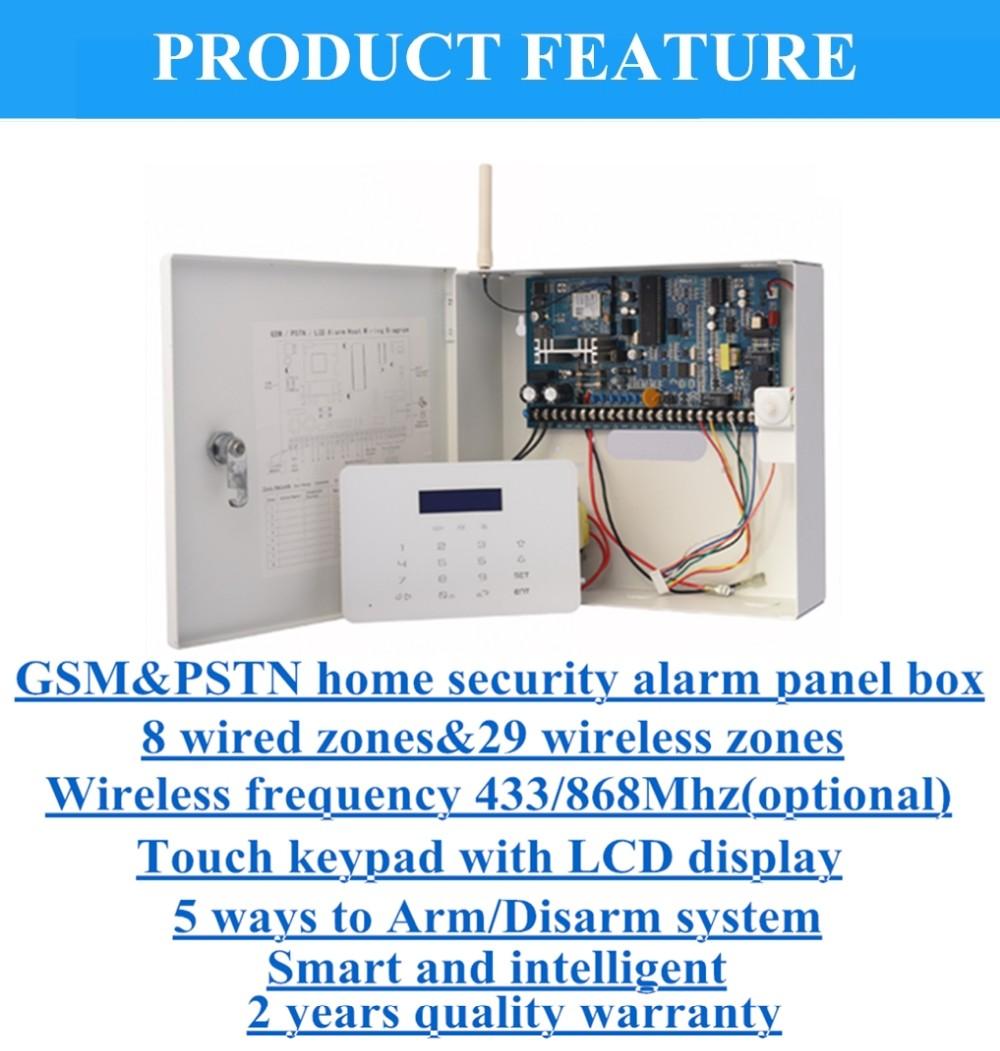Gsm+pstn Dual Network 16 Wired System Burglar Anti-theft Metal Box ...