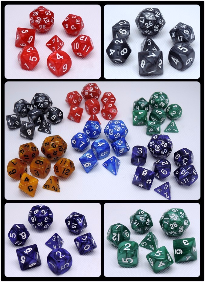 custom multicolor acrylic polyhedral dice, RPG dice set Quality Choice Inquiries