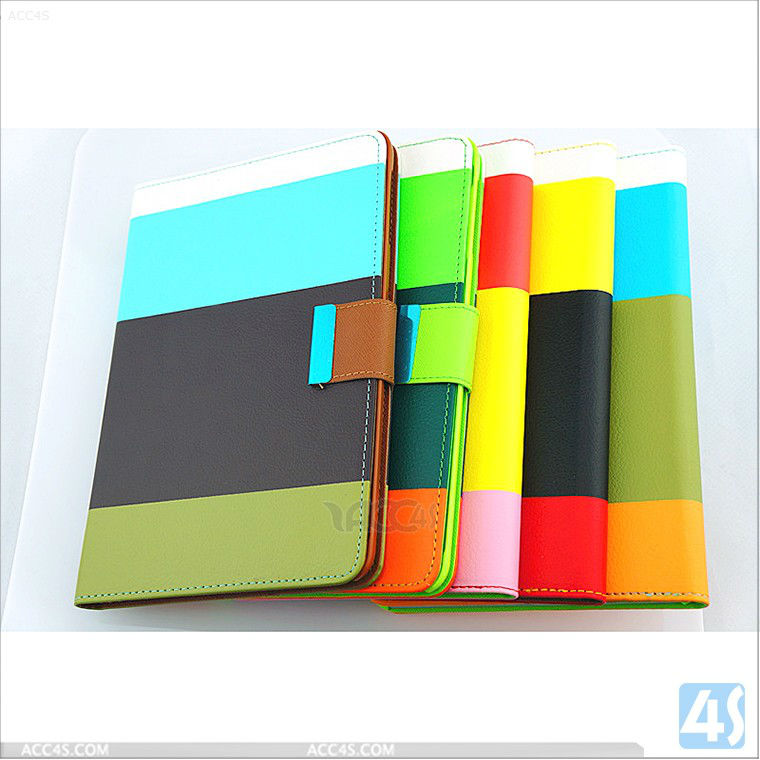 Colorful pu leather case for iPad mini with Retina display P-iPDMINICASE116
