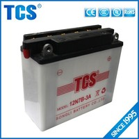 Top quality dry charged motorcycle batteries lead acid