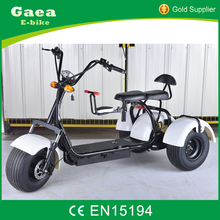 Gaea electric tricycle cargo 3 wheels adult tricycles citycoco electric scooter