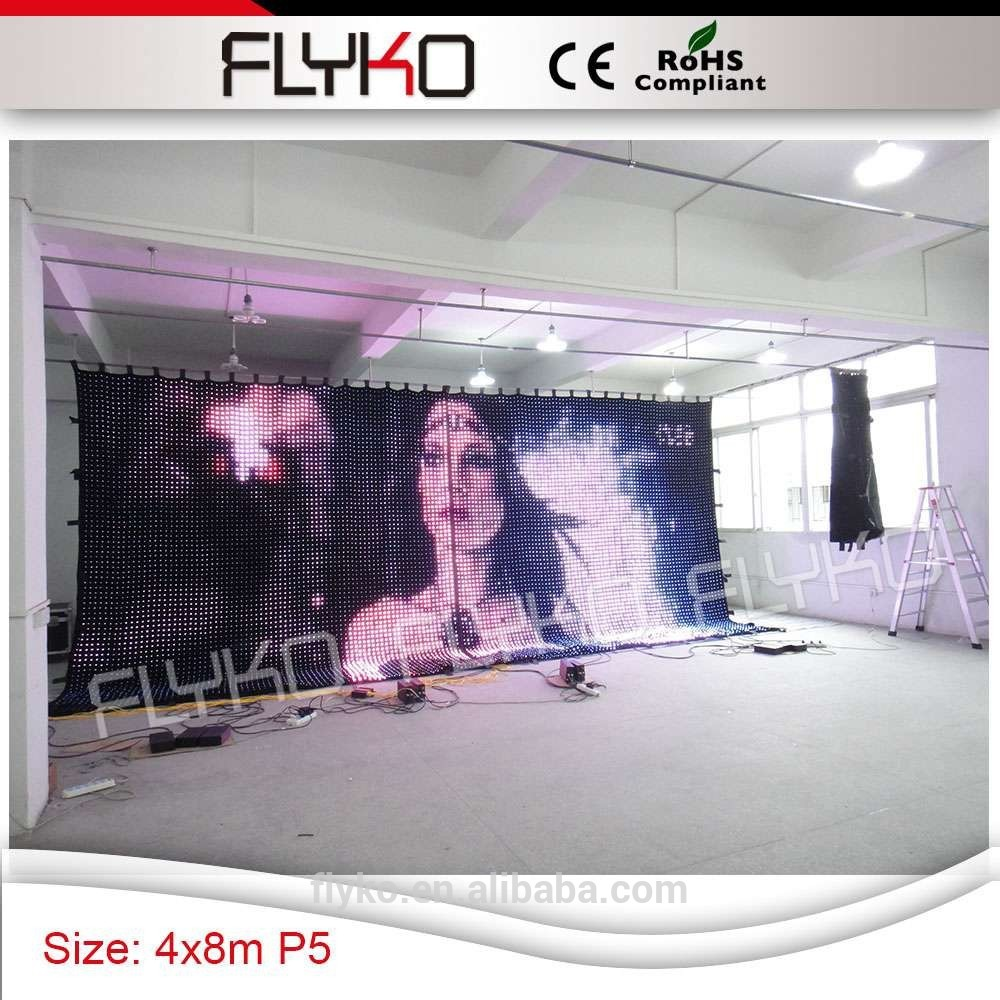 led light flexible curtain/ soft xxx videos / indoor soft led video walls
