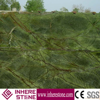 Low price rainforest green marble slab