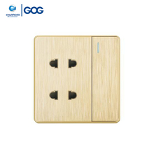 GOG 16A 2 gang 2pin nigeria electronic ac socket with 1 gang switch