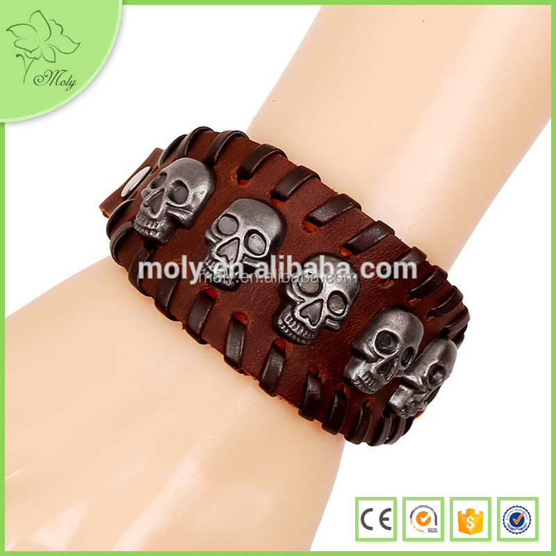 Yiwu Jewelry Manufacturer My Alibaba Best Sell of Bracelet With Skull Cheap Wholesale