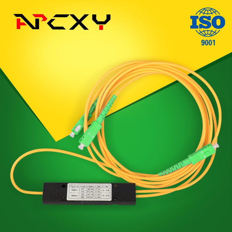 1X2 SC/APC PLC Splitter Module Optical Fiber Splitter 1310/1550 optical splitter2.0MM