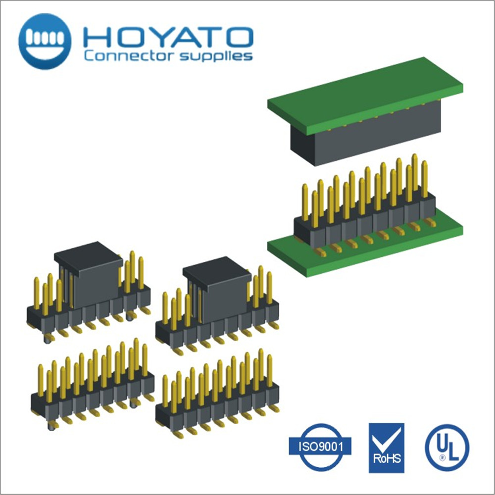 PCB Connector 2.0mm pitch Pin Header Double Row SMT Male