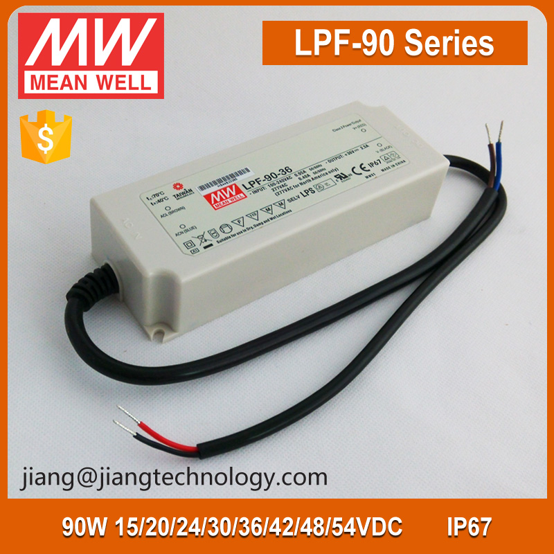 90W 42V 2.15A Mean Well Constant Voltage LED Power Driver LPF-90-42