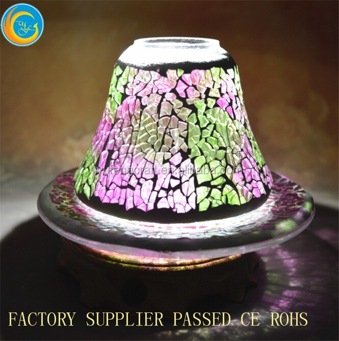 online colorful mosaic glass candle jar shades wholesale wedding deco cloche jars wedding centerpiece lighted