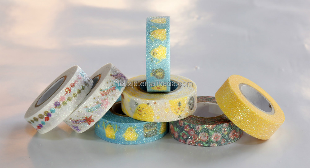 printing glitter paper tape