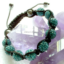 Girls' gifts!Hot sale gemstone bracelet,green shamballa beaded bracelet