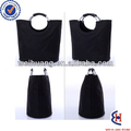 fashion black 600d polyester shopping bags