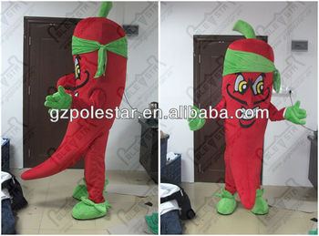 custom hot pepper mascot costumes NO.3844