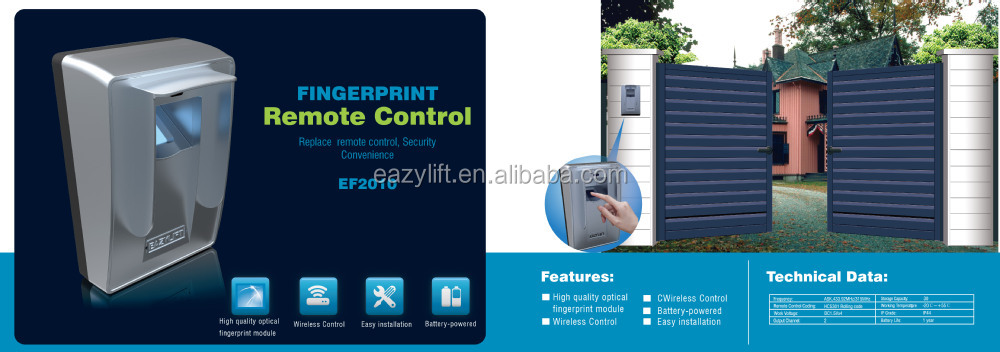2015 new! Garage door access fingerprint scanner/sensor module