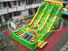 China Factory Inflatable Green Slide with Climbing and Obstacle Combo