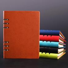 Good quality leather PU note books for business spiral in B5/A5/A6 with name card holder