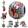 Christmas Stocking Charm Beads Shoe