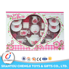 Happy time plastic kitchen play plastic luxury mini tea set toy