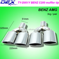 Best price hot sale stainless steel 304 B~enz amg muffler tips universal exhaust tail pipe