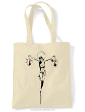Alibaba custom art troupe Tote Bags canvas for shopping.