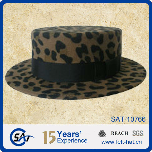 womens flat top dress hat