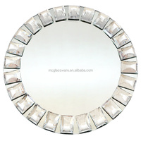 China mirror glass charger plate wholesale