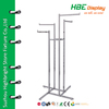 Clothes rack shop fittings 4 way rectagular tubing rack