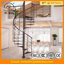 YY-G1005 Hehui hard wood staircase for home design metal stairs with hot sale staircases