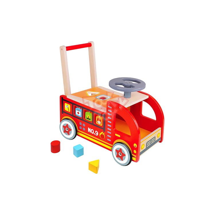New Design For Kids Ride On Wooden Fire Truck