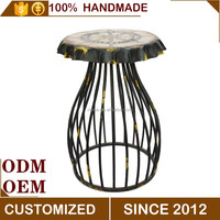 Creative beer bottle cap metal bar stool waiting design chair