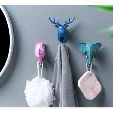 Hot sale home decorative animal deer rhinoceros elephant wall <strong>hook</strong>