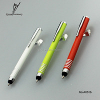 Aluminum short touch ball pen with white ring for smart phones