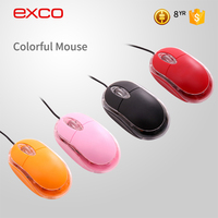 EXCO Low MOQ logo customized wired optical drivers usb 3d gaming mouse with ce certificate funny computer mouse