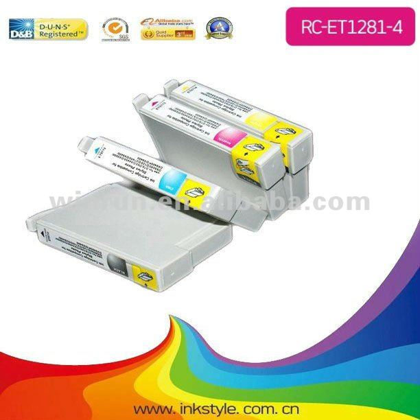 Hot sell !! Compatible APEX chip T1281 inkjet ink cartridge for Epson Stylus S22 SX125 China wholel/ bulk ink system