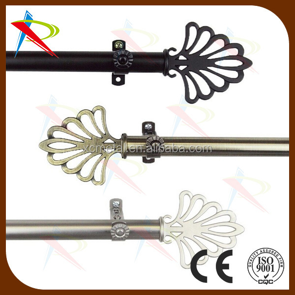diameter 19mm telescopic & flexible curtain rod by 3 colors