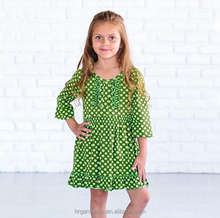 boutique children fall winter clothes fashion kids cotton party dress ruffle cute baby sweet girl frock wholesale