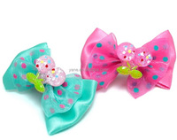 Latest hair accessories cheap lovely alligator clips for hair bows