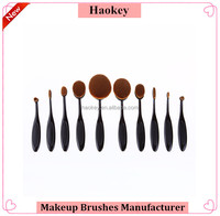 10PC/Set Pro Toothbrush Shaped Eyebrow Foundation Power Face Eyeliner Lip Oval Cream Puff Brushes Makeup Beauty Tools Set